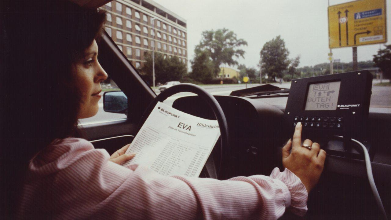 EVA navigációs rendszer prototípus 1983-ból