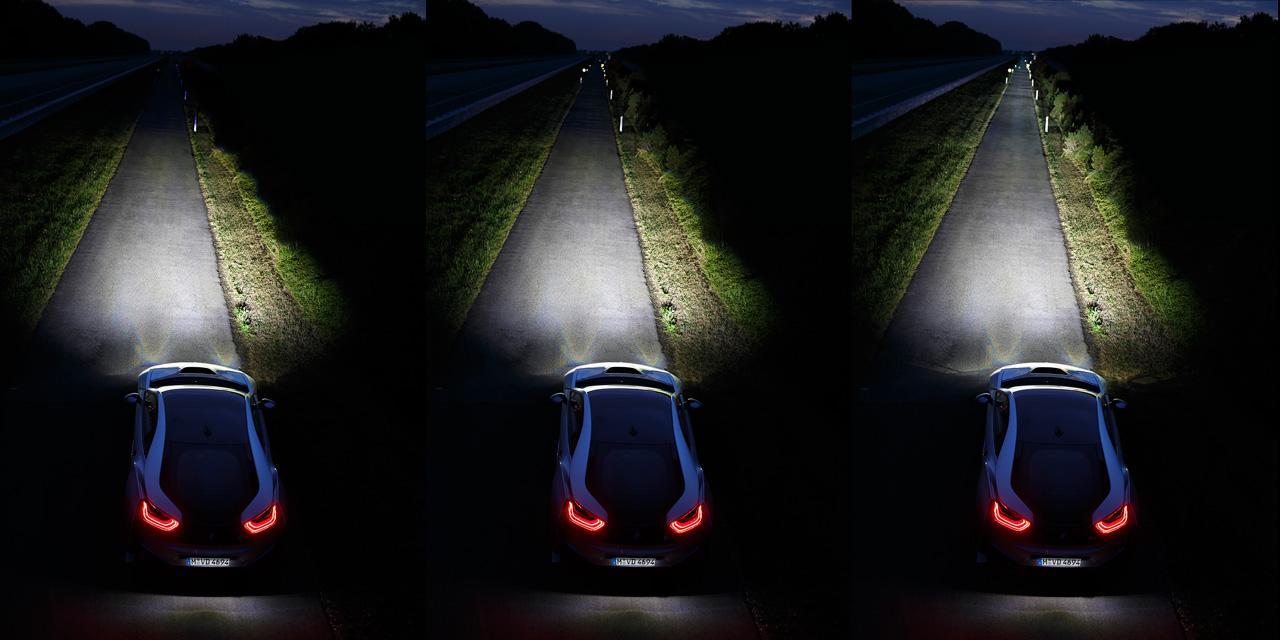 A világon elsőként, a BMW i8 modellben alkalmazzák a lézer LED világítást