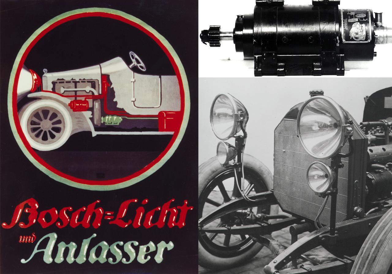 A világításrendszerrel együtt érkeztek az első Bosch önindítók is