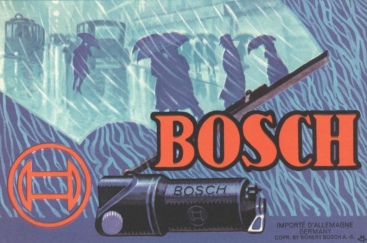 Egy 1926-os plakát. A Bosch közel 90 éve gyárt ablaktörlő rendszereket