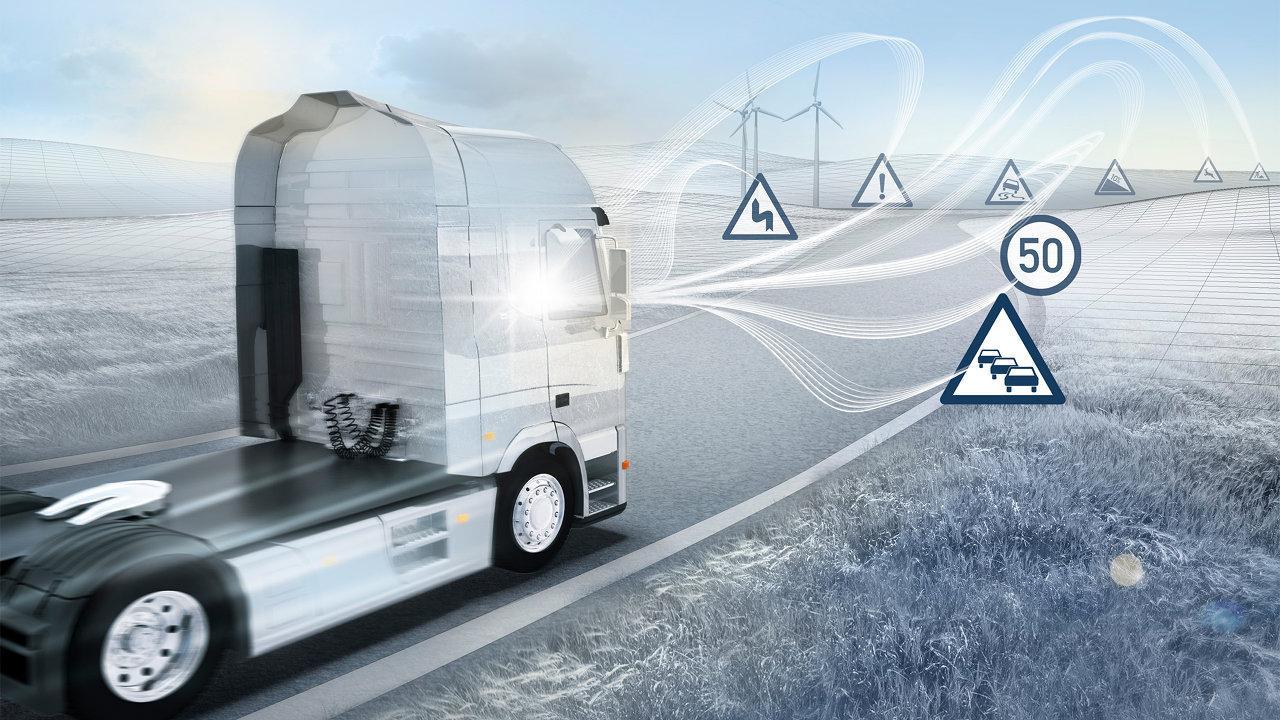 Hálózatba kapcsolt horizont: az adatfelhőből nyert valós idejű adatok alapján nemcsak a domborzat és az út vonalvezetése alapján szabályozzák sebességüket a járművek, de előre felkészülnek a torlódásra vagy veszélyes felfagyásokra a más járművek által a felhőbe feltöltött információk alapján
