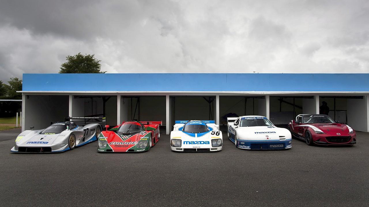 A 2015-ös Festival of Speed alkalmával gyakran zengett Goodwood a Mazda versenyautóinak üvöltésétől