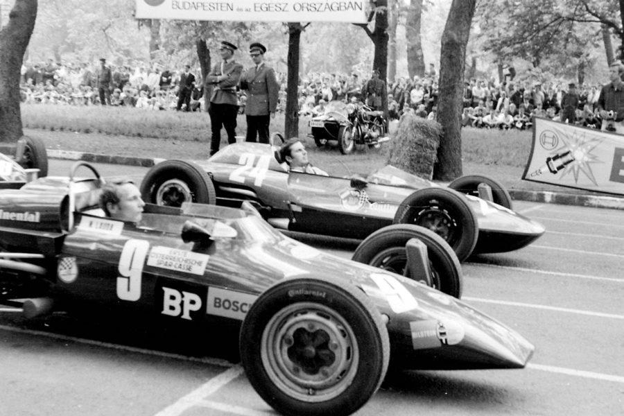 Niki Lauda egy budapesti autóversenyen