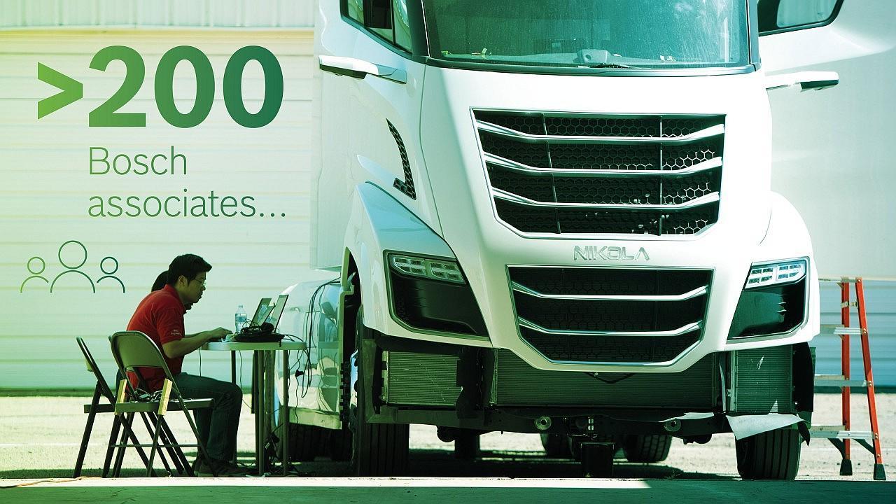 Több mint 200 Bosch-munkatárs vesz részt a Nikola fejlesztésében