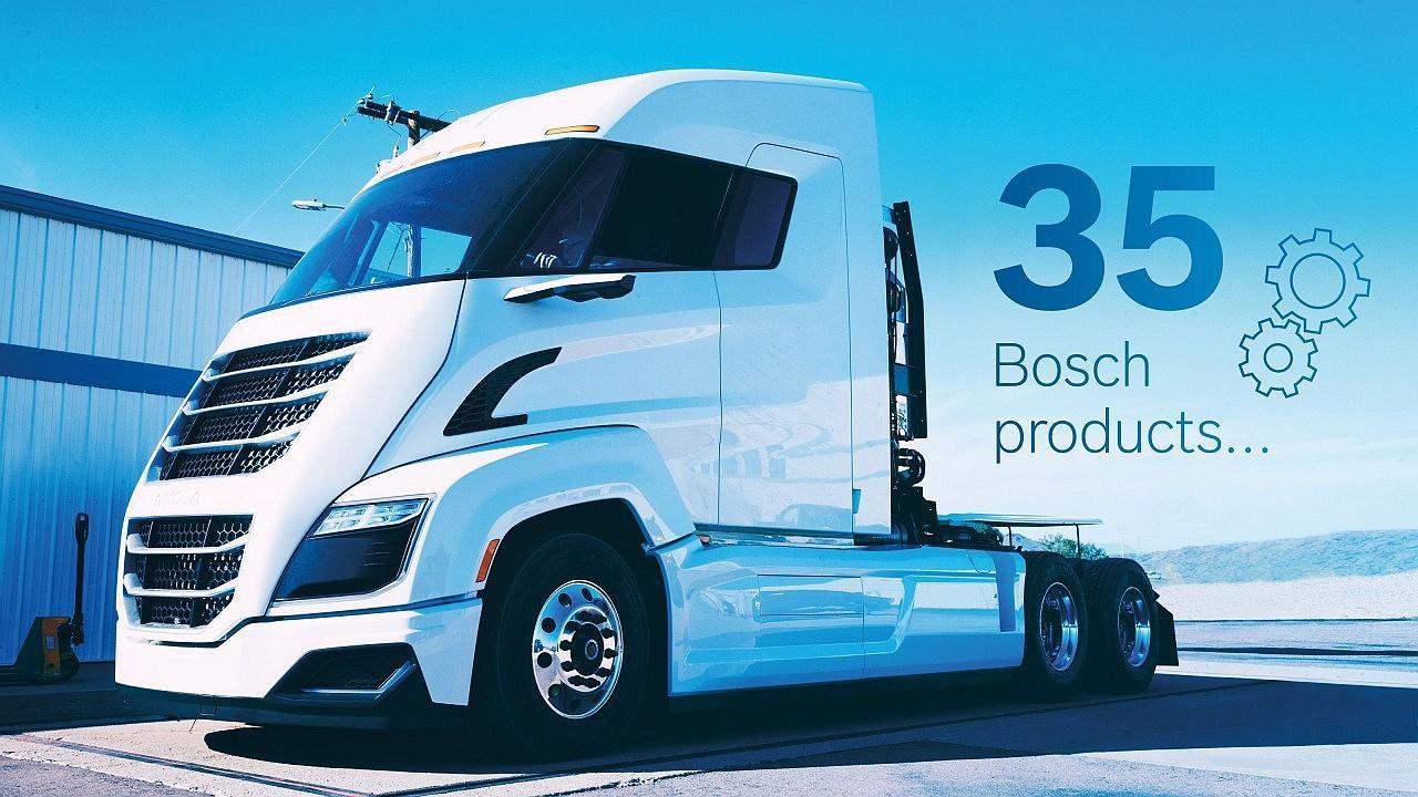 Üzemanyagcellás vontatójában 35 Bosch terméket alkalmaz a Nikola