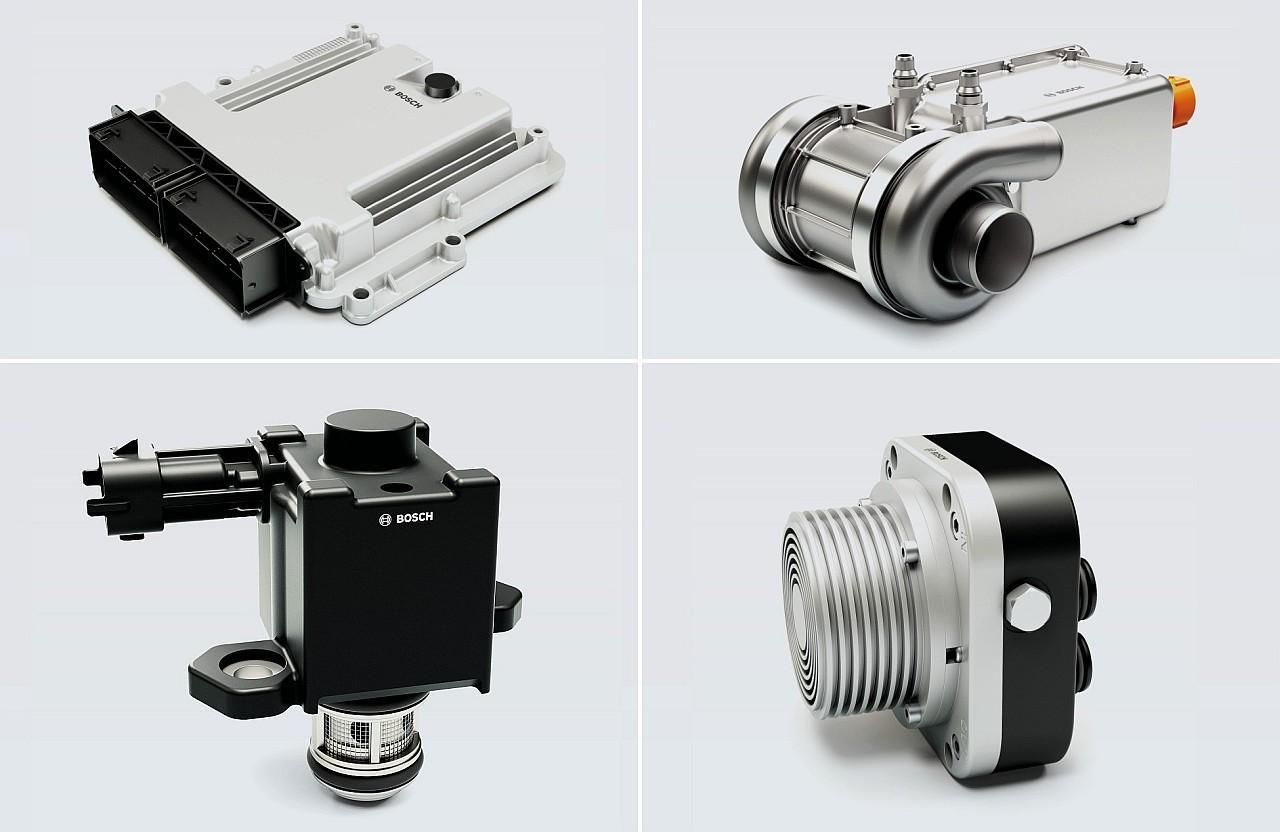 Az üzemanyagcella-vezérlőegység, az elektromos levegőkompresszor, a hidrogénbefecskendező és az anód visszatérítő fúvóka is Bosch termékek a Nikola vontatójában