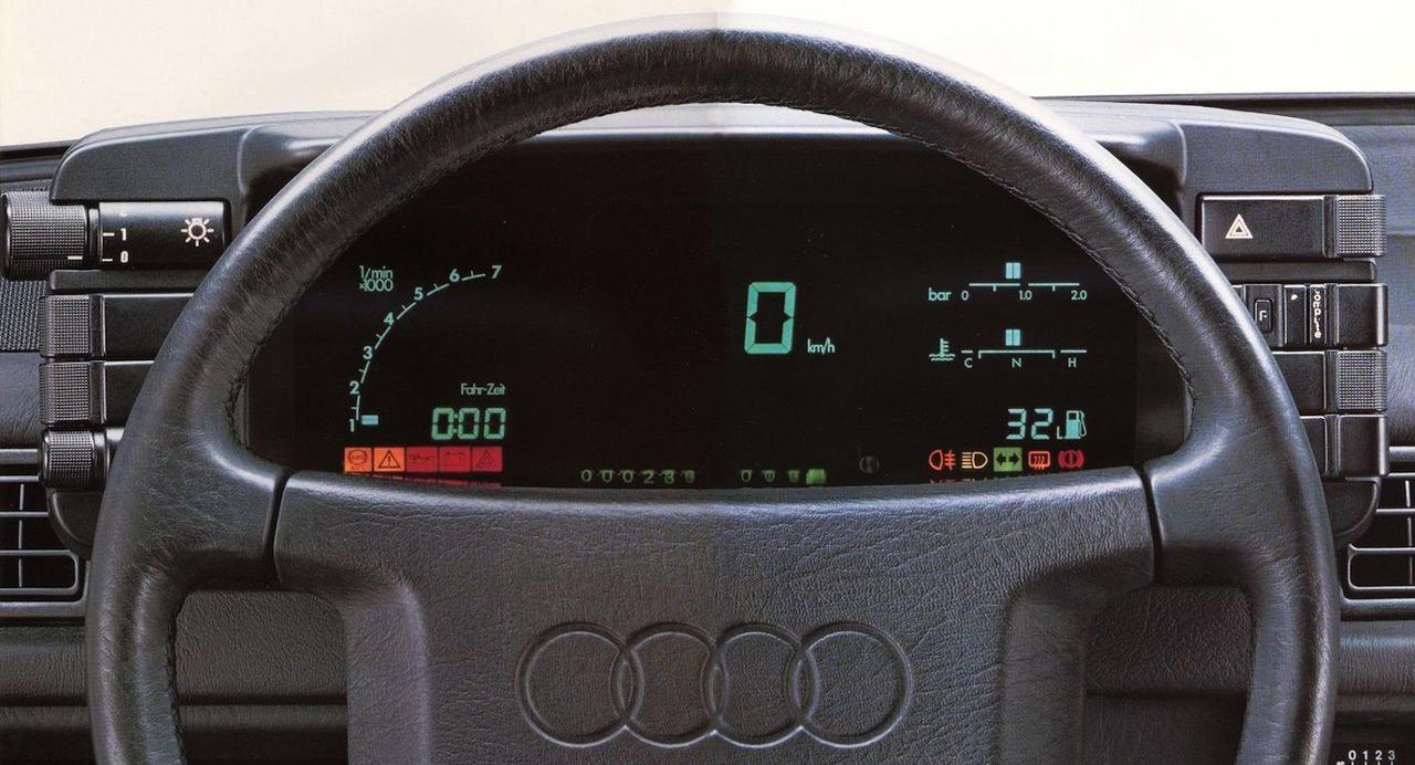 Az Audi Quattro digitális kijelzője igazi unikumnak számított a megjelenésekor