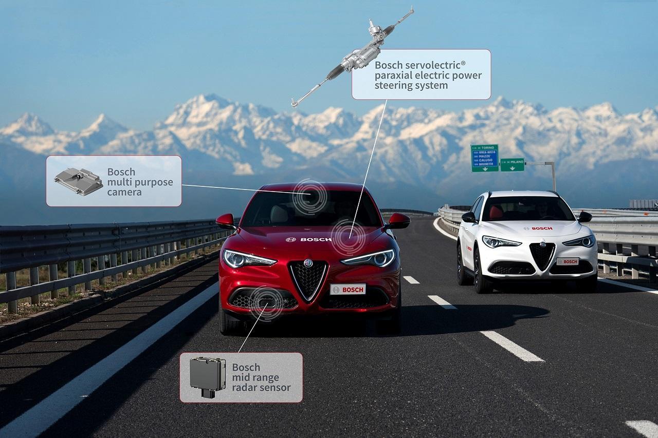 Az Alfa Romeo szinte minden szükséges vezetőtámogató rendszert a Bosch kínálatából szerez be