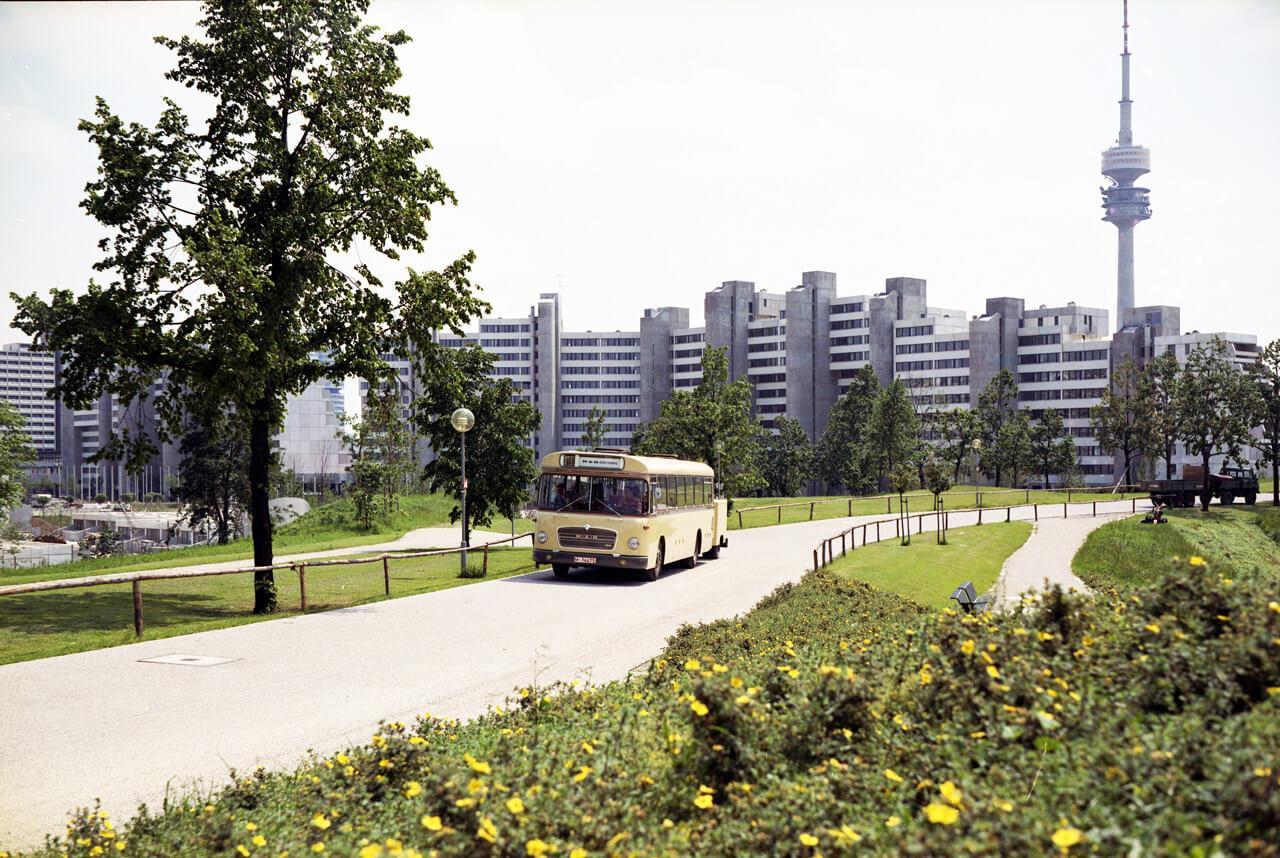 Hamar a müncheni olimpiai falu, jellegzetességévé vált az elektromos szerelvény
