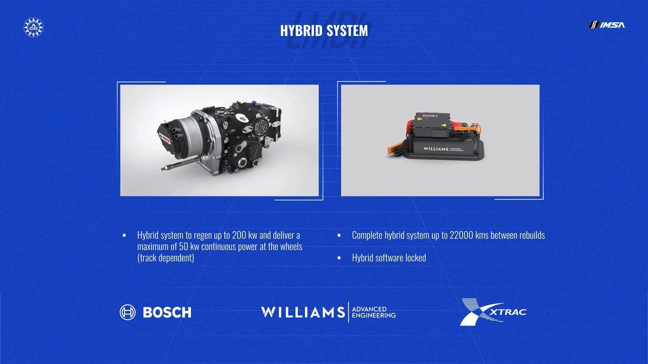 A Bosch mellett a másik két technológiai partner a Williams Advanced Engineering és az Xtrac