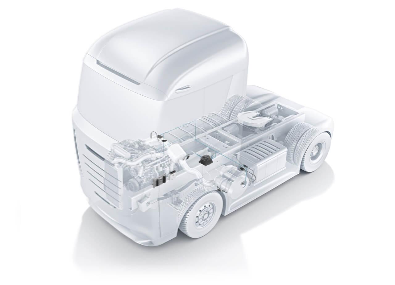 A Bosch folyamatosan fejleszt új technológiákat, de a tehergépjárműveknél még jó ideig a dízelmotor lesz az elsődleges erőforrás