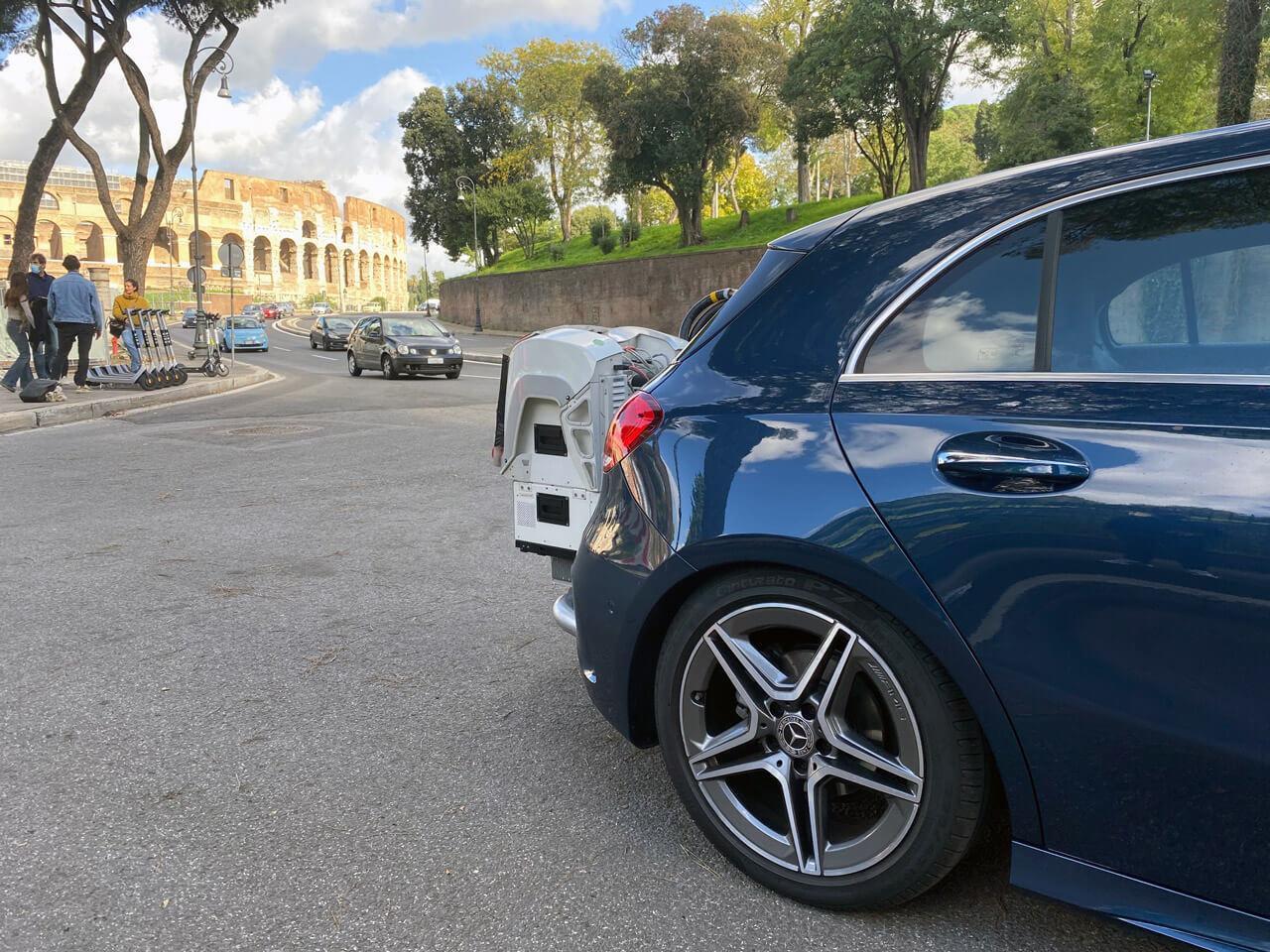 Az olasz nagyvárosok úthálózata meglehetősen hektikus
