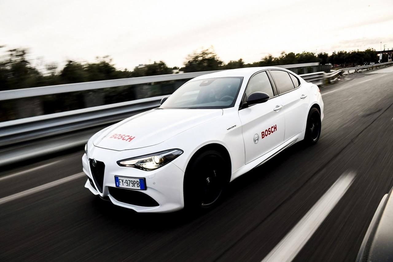 A Bosch a Giulia fejlesztésének kezdete óta segíti az olasz mérnökök munkáját