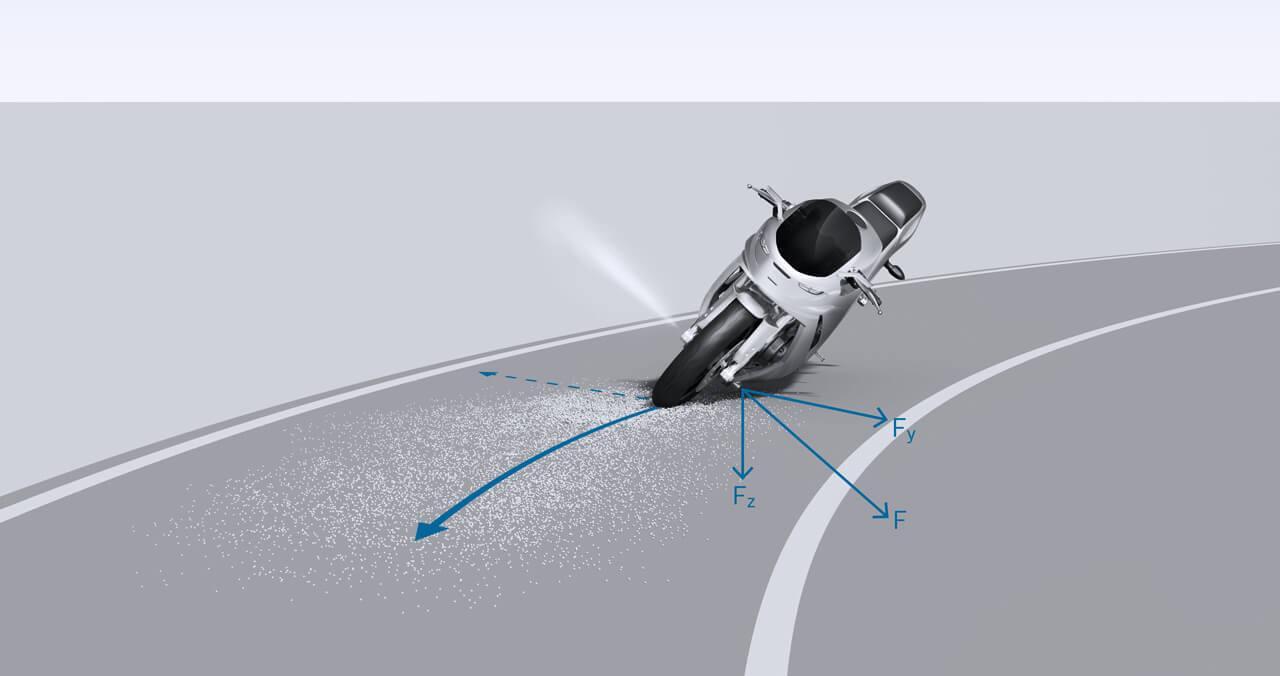 Bűvös kéz tartja az úton a motort