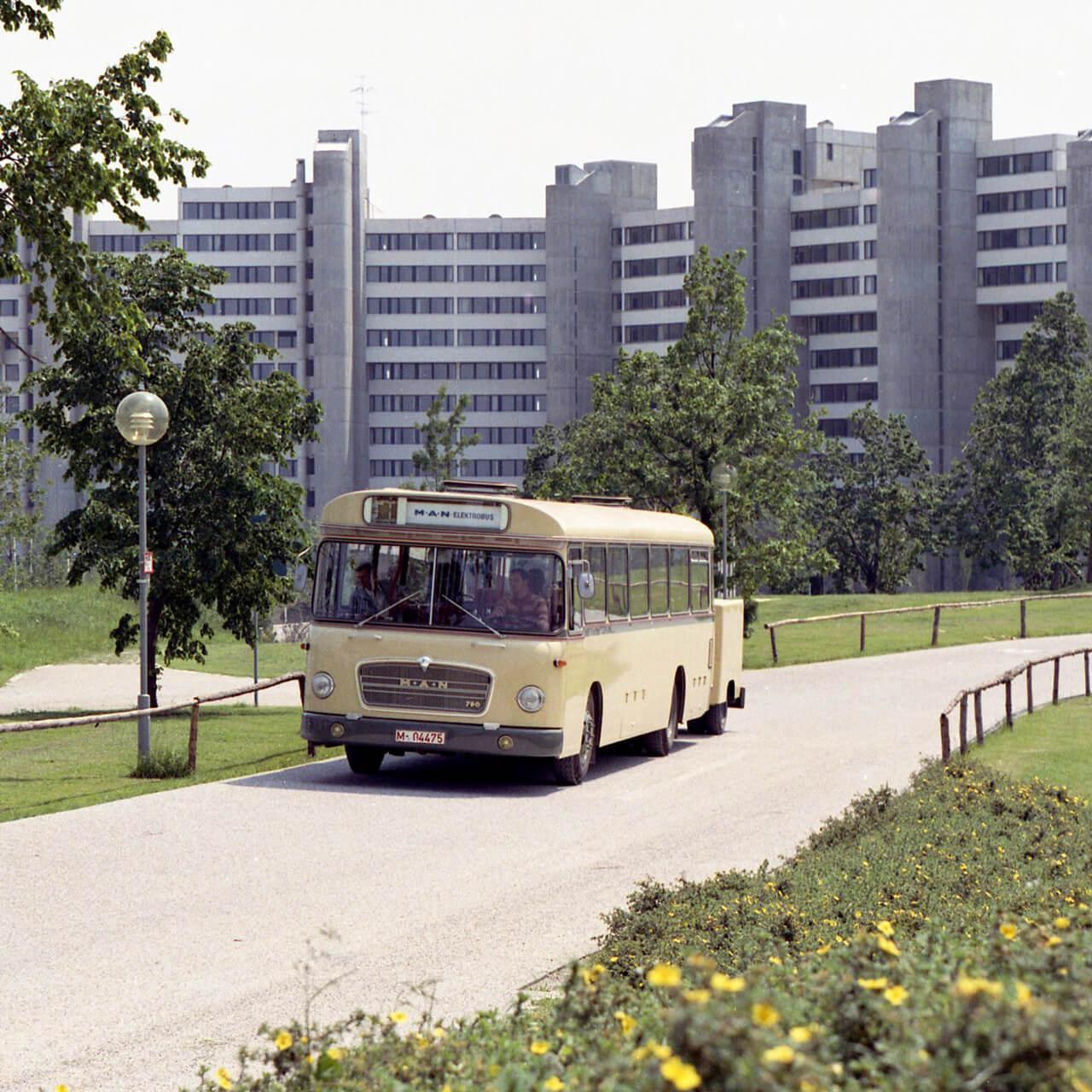 A müncheni olimpia villanybusza